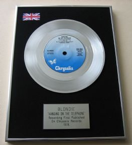 BLONDIE - HANGING ON THE TELEPHONE PLATINUM Single Presentation DISC